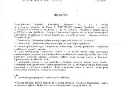 PGK Żyrardów Referencje-III Etap-1