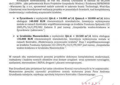 BIPROWOD - List Referencyjny na Żyradów i Grodzisk Mazowiecki