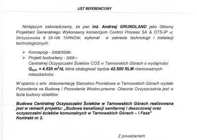 Referencje COŚ w Tarnowskich Górach