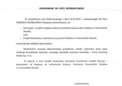 Referencje COŚ w Tarnowskich Górach - uzup