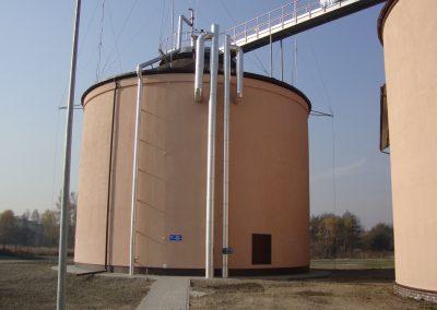 Oczyszczalnia Ścieków Karkoszka II we Wodzisławiu Śląskim nowa komora fermentacyjna WKF