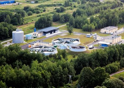 Oczyszczalnia Ścieków w Tarnowskich Górach po zakończeniu inwestycji w 11. 2011r