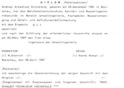 Diplom AG tłumaczenie
