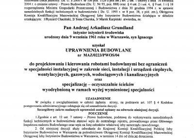 Uprawnienia sanitarne AG strona 1