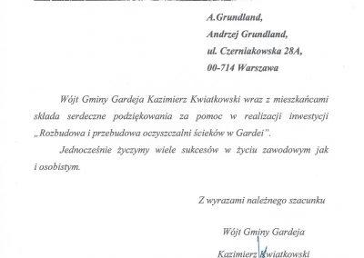 Referencje Gmina Gardeja