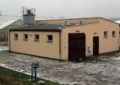 Stacja Odwodnienia i Higienizacji Osadu SOHO na Oczyszczalni Ścieków w Kozienicach stan 12.2017 r. przed rozbudową.