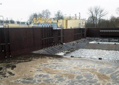 Rozruch – napełnianie zbiornika symultanicznej nitryfikacji i denitryfikacji  KNDF12 po zakończonej przebudowie ciągu biologicznego  18 listopad 2014 r.