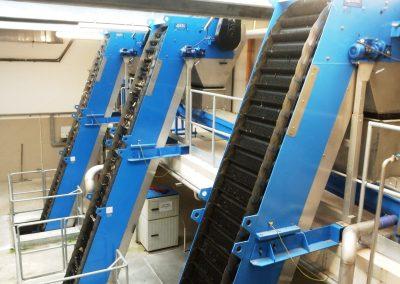 Układ krat hakowych w Budynku Mechanicznego oczyszczania ścieków