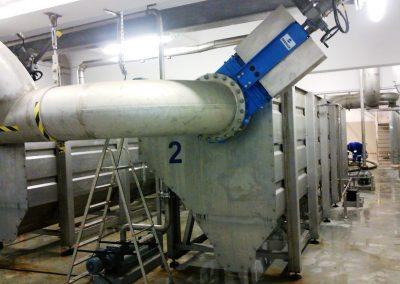 Piaskowniki napowietrzane z odtłuszczaczem w Budynku Mechanicznego oczyszczania ścieków