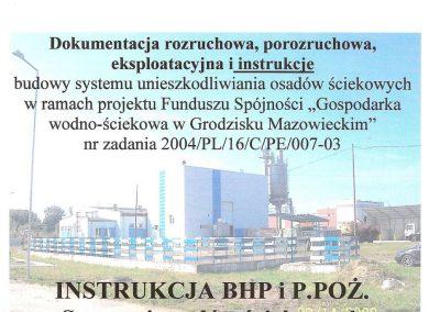 Instrukcja BHP i P.POŻ Szuszarni osadów ściekowych.